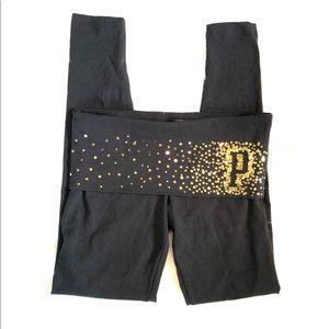 [PINK] Black/Gold Sequin Leggings - Size XS